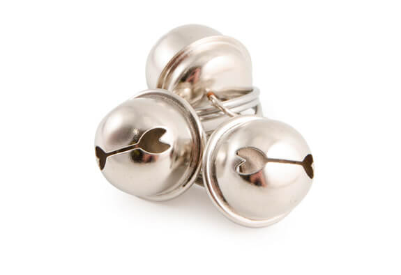 Ancol 3 Pack of Cat Bells Chrome