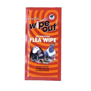Wipeout Flea Non Insecticidal Wipes for Small Animals (G)(VBW100)