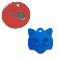 Engraved Cat ID Tags