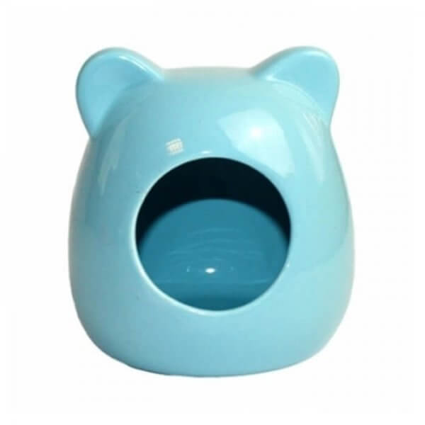 Happy Pet Ceramic Blue Hamster House