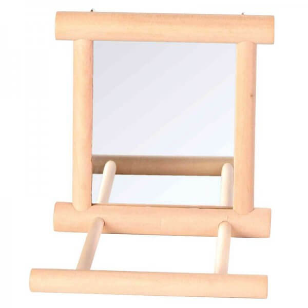 Trixie Wood Bird Perch Mirror