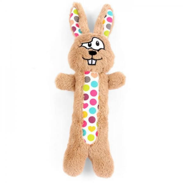 Happy Pet Funky Rabbit Dog Toy Brown
